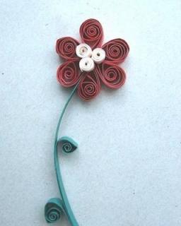 Telkari kağit çiçek yapilişi