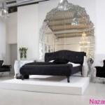 asma-tavanli-siyah-yatak-odasi