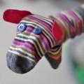 Çoraptan Yapılan Hayvan Kuklaları