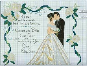 Вышивка крестом для свадеб