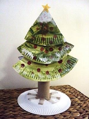Kağıt Tabaktan Noel Ağacı