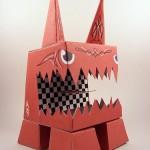 karton-canavar-robot-maketi