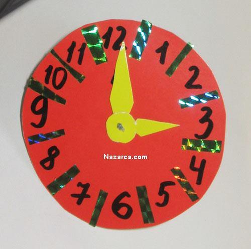 Как сделать часы картон 125