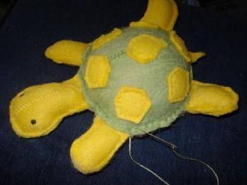 keçeden yapılan kaplumbağa