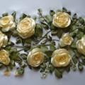 Saten Kurdeladan Yapılan Güller