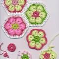 Tığ İle İşlenen Çiçek Motifi