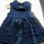 Lacivert-orgu-kız-bebek-elbisesi