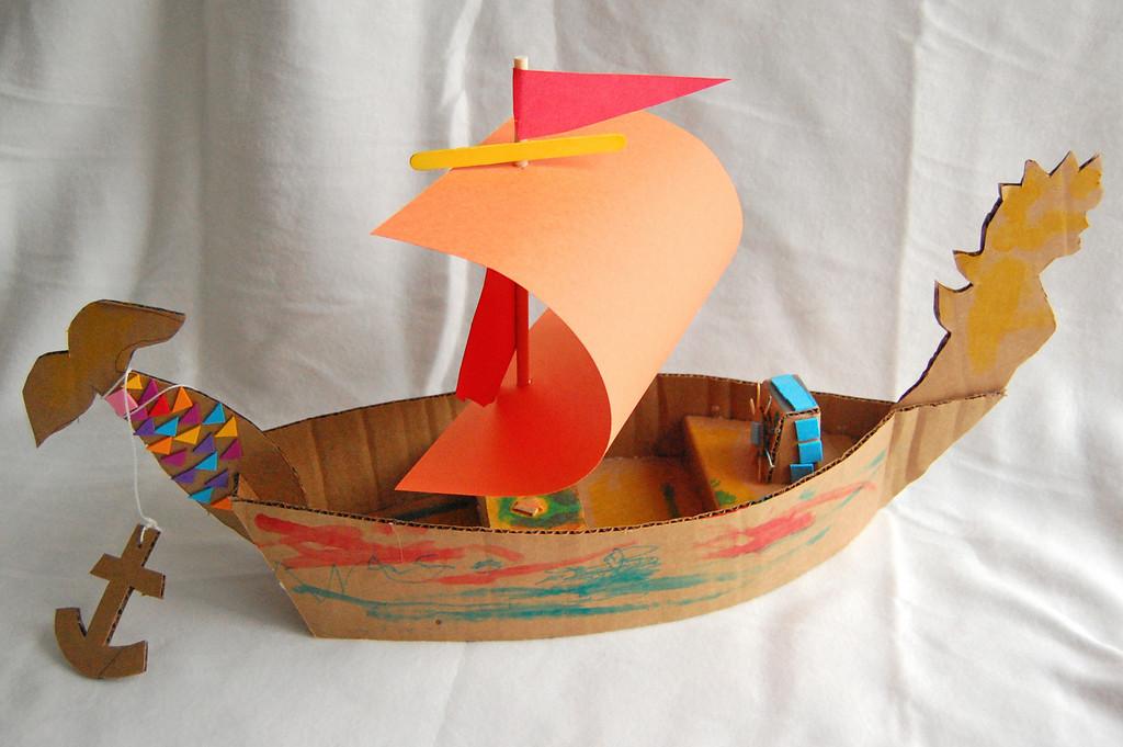 Поделки из картона кораблики 53