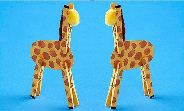 Жираф для поделок из бумаги 439