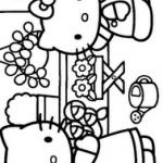 Hello-Kity-cicekcide-boyama-resimleri-sayfalari