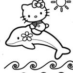 Hello-Kity-denizde-boyama-resimleri-sayfalari