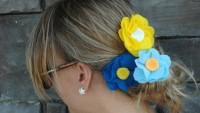 Keçe Kumaşından Saç Tokası Çiçek Yapımı