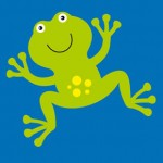 sevimli kurbağa resmi