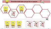 Renkli Süngerbob Örüntü Çalışma Sayfaları