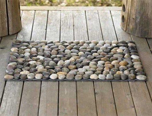 Ta lari yapi tirarak yapilan etk nl kler for River stone bath mat