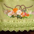 En Güzel havlu-ustuna-kurdele-nakisi-ornekleri