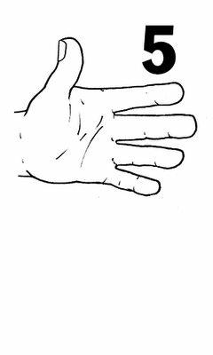 Parmak Işaretiyle Gösterilen Sayi Boyama Sayfalari Nazarcacom