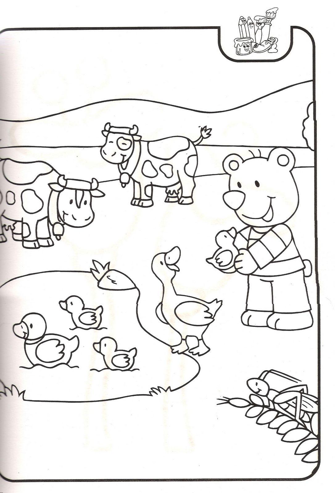 Sevimli hayvan boyama resimleri sayfalari 22