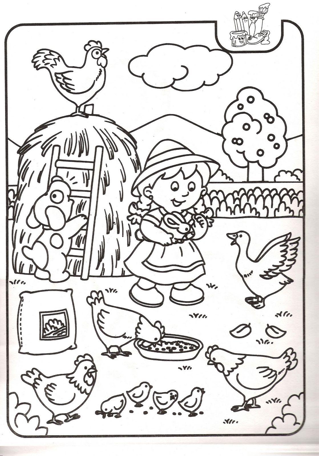Sevimli hayvan boyama resimleri sayfalari 25