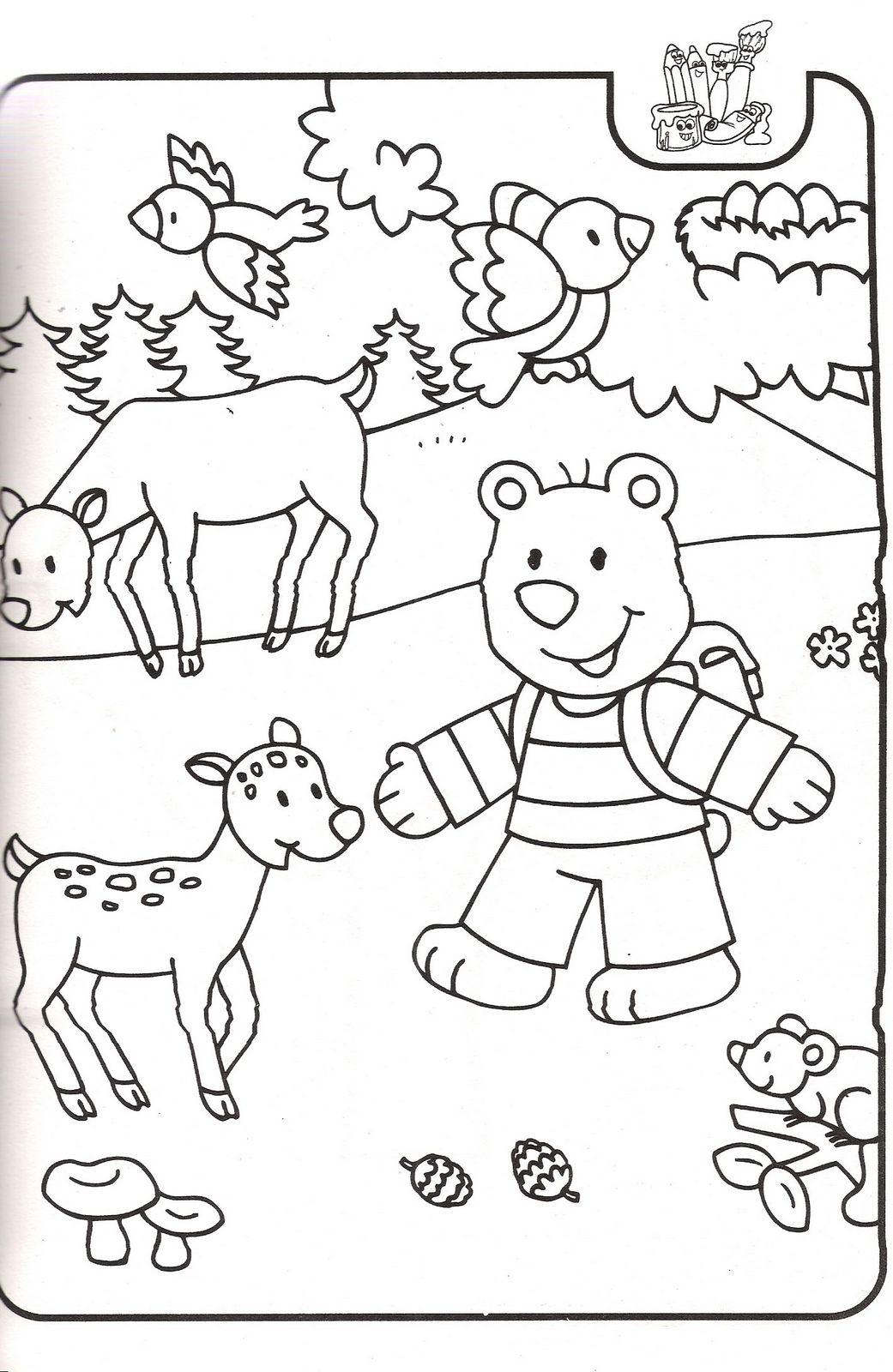 Sevımlı boyama sayfalari sevimli hayvan boyama resimleri sayfalari 3