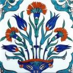 cini-desen-ornekleri -vazoda-cicekli