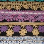 Renkli havlu kenarları