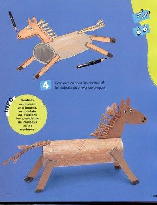 Karton rulodan basit oyuncak at yapılışı