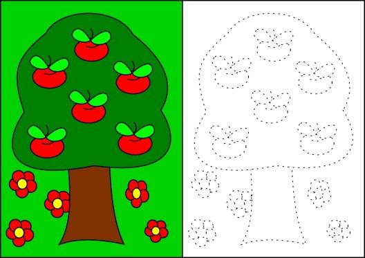 aynisiniboyama-agacta-elmalar