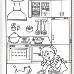 Çeşitli resim boyama sayfalarıkizla-kedi-boya