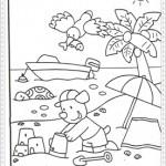 Çeşitli resim boyama sayfalarıkumsal-sahilboya