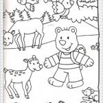 Çeşitli resim boyama sayfalarıresimli-hayvanboya