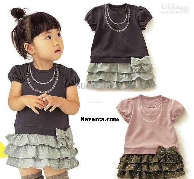 Küçülen Çocuk Tişortlarını Elbiseye Çevirme
