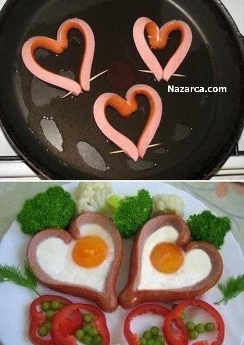 kalp-seklinde-sosisli-yumurta