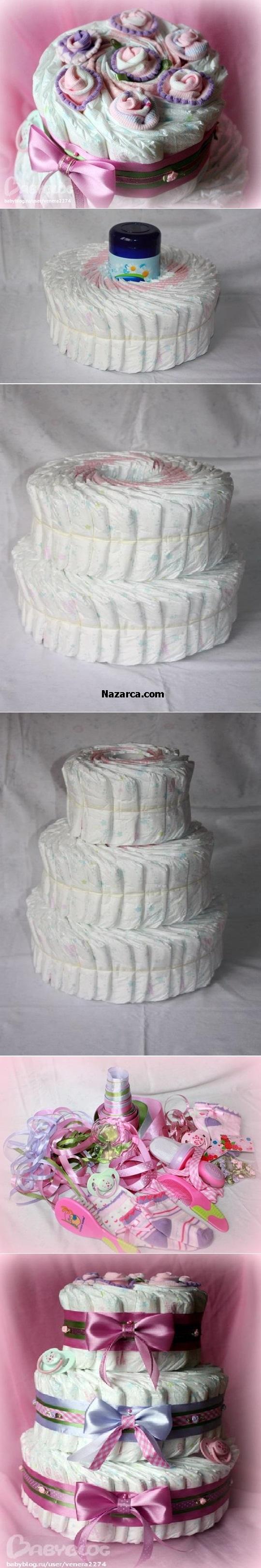 bebek-bezlerinden-pasta-maketi-bebek-hediyesi