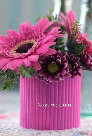 renkli-pipetlerden-dekoratif-vazo-yapimi