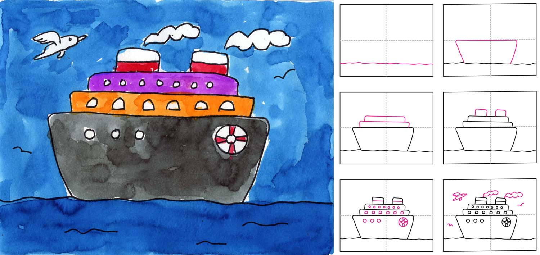 Cruise Ship Diagram-kolay-gemi-resmi-cizme