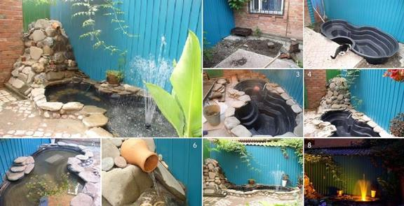 DIY-Handmade-Pond-in-the-Yard