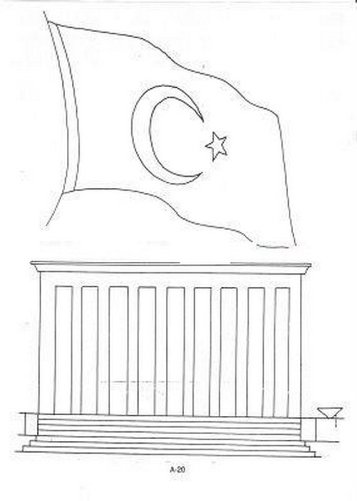 Bayrak Boyama Sayfalari Nazarcacom