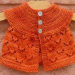 turuncu-orage-orme-kiz-bebek-yelek