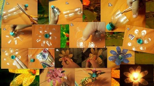 DIY-Plastic-Bottle-Candle-Stand-plastikten-mumluk