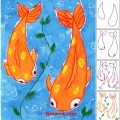 Koi fish-kolay-balik-cizme