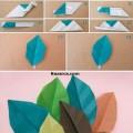 kagit-katlayarak-origami-yaprak-yapilisi