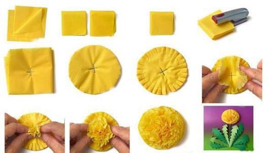 Цветы из салфеток: легкие поделки своими руками, пошаговые 33