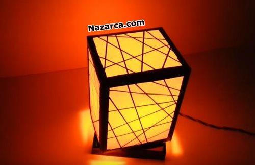 karton-kutuyla-dekoratif-lamba