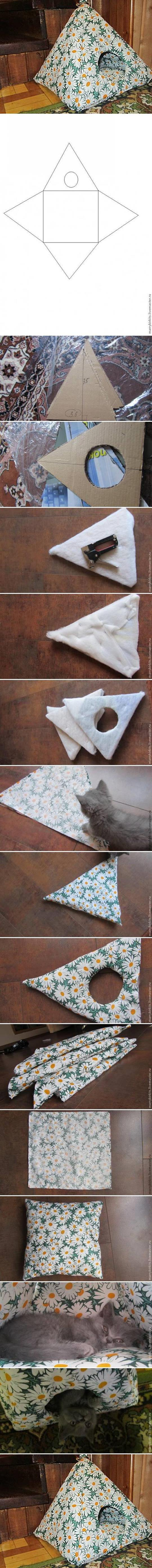 karton-ve-kumastan-kedi-evi-yapimi-diycat