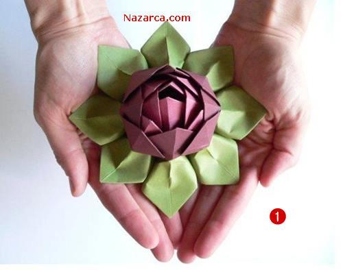Origami-lotus-cicegi-yapilisi-nazarca-com