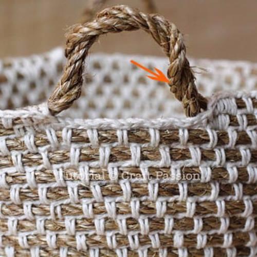 того, как как связать корзинки сумки из шпагатной веревки слова