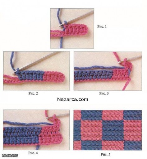 Переход цвета в вязании спицами схема 36