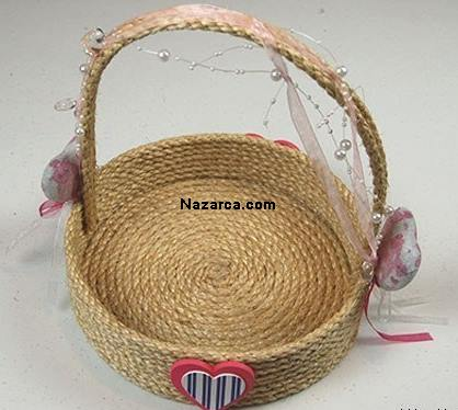 How-flower-basket-of-rope is made-1