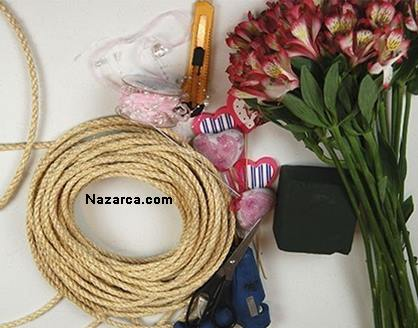 How-flower-basket-of-rope is made-2